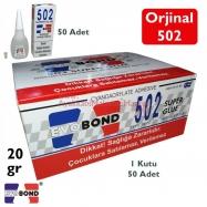 502 EVO BOND SÜPER YAPIŞTIRICI 20GR -50'Lİ PAKET