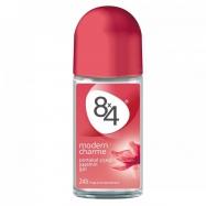 8X4 ROLL-ON MODERN CHARME 50ML FOR WOMEN - 6'LI PAKET