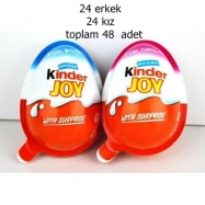 KİNDER JOY KIZ ERKEK KARMA-48'Lİ PAKET