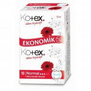 KOTEX ULTRA EKONOMİK NORMAL 18'Lİ PAKET  - 16'LI KOLİ