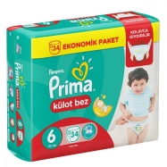 PRİMA PAMPERS PANTS EXTRA LARGE 16+ (19) - 4'LÜ KOLİ