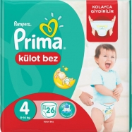 PRİMA PAMPERS PANTS MAXİ 9-14 (24) - 4'LÜ KOLİ
