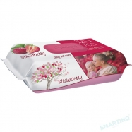 SLEEPY ISLAK HAVLU STRAWBERRY (ÇİLEK) 120'Lİ -12'Lİ KOLİ