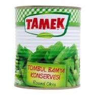 TAMEK TOMBUL BAMYA KONSERVESİ 825GR TENEKE-12'Lİ KOLİ
