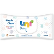 UNİ BABY SİMPLE CLEAN ISLAK HAVLU 72'Lİ-24'LÜ KOLİ