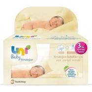 Uni Baby Yenidoğan 36'lı Paket Islak Mendil